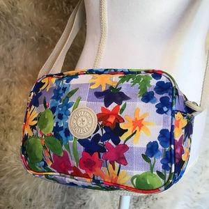 Kipling crossbody floral gray